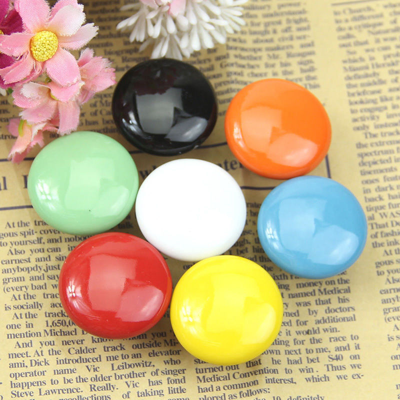 Colorful Ceramic Round Cabinet Wardrobe Drawer Cupboard Knob Drawer Pull Handles Furniture Handle Knob halilo new 2018 girls summer dress kids clothes girls party dress children clothing pink princess flower girl dresses hot sale
