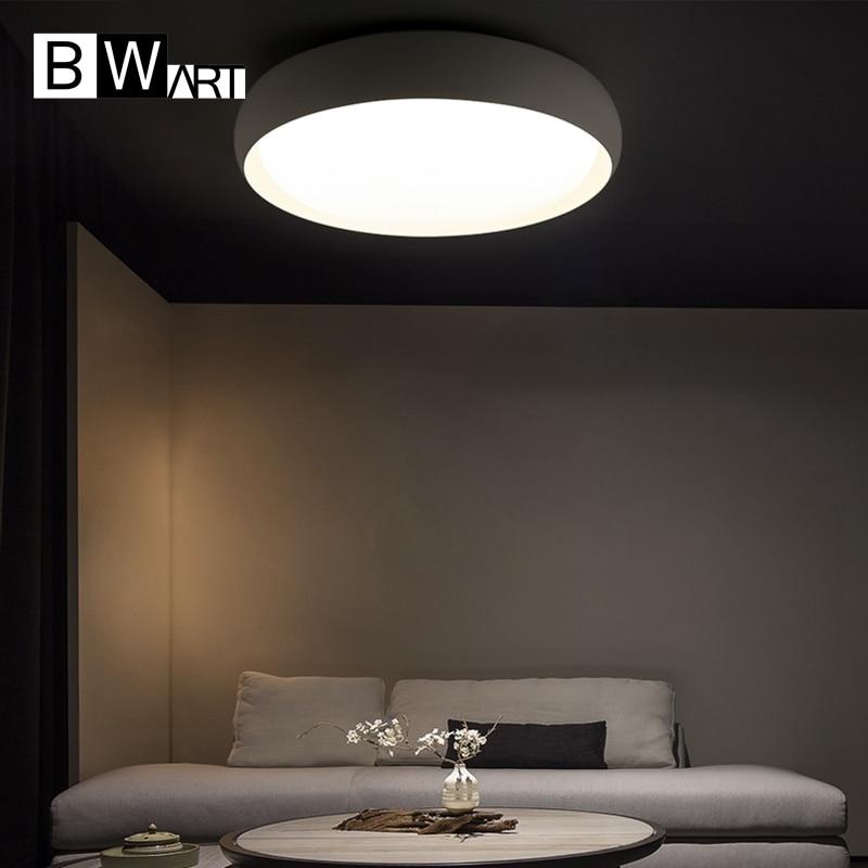 Bwart Black/White Modern Led Ceiling Lights For Living Room Bedroom 95-265V Indoor lighting Ceiling Lamp Fixture luminaria teto