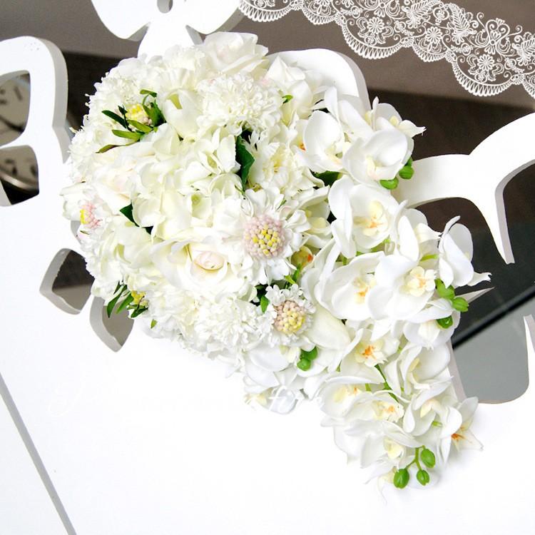 Bridesmaid flower wedding accessories bridal bouquets artificial bruidsboeket fleurs bouquet mariage 13