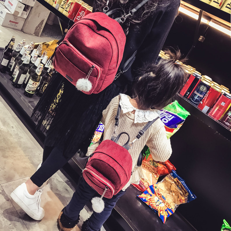 Korean Style Parent-Child Backpack Female 2018 Women Backpack Small Shoulder Bags For Mom And Kids Mini Back Pack Bags For Girls