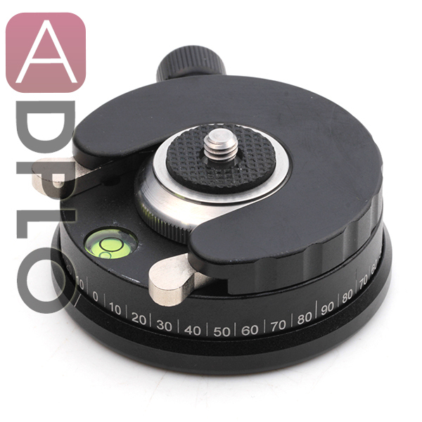 "1s High Speed Quick Release Plate Panoramic Tripod Heads 1/4"" Screw With Bubble"