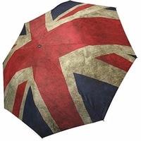 Union Jack Foldable Travel Umbrella Sun Rain Umbrella Foldable Umbrella 100% Fabric And Aluminium Umbrella for Women