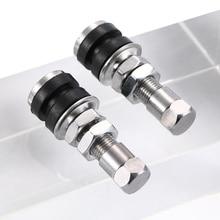 2 шт Универсальный клапан 3,9x1,5 см латунь+ резина серебристого цвета бескамерный клапан для шин Аксессуары для автомобилей и мотоциклов