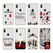 Pretty little liars tv show de luxo hibrido caso de telefone para o iphone 5 6 7 8 x plus xr xmax 11 caso de tpu macio