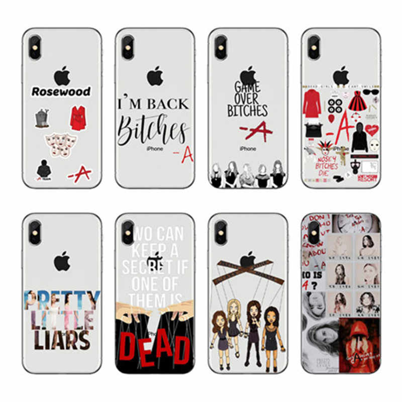 Pretty Little Liars PLL TV Show de Luxo Hibrido caso de telefone para o iphone 5 6 7 8 X Plus XR Xmax 11 Soft TPU Caso Coque