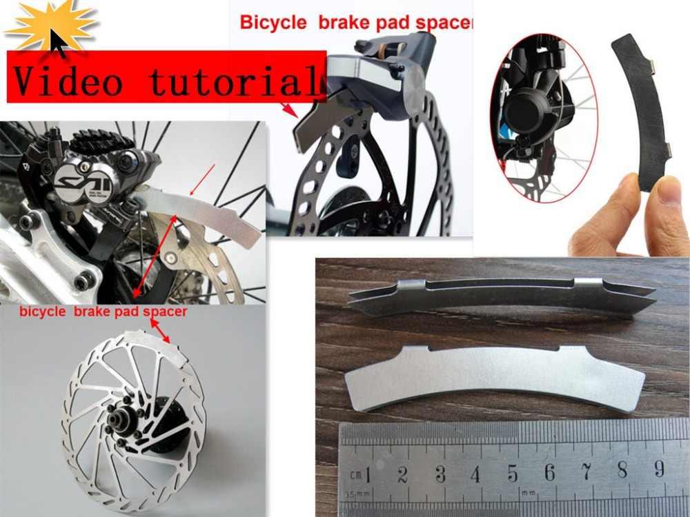 1 pc vélo frein étrier alignement outil kit vélo frein pad entretoise cyclisme disque frein système ajuster réparation outil vélo pièces