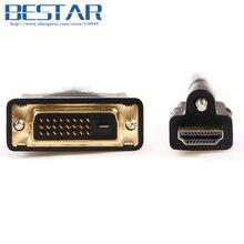 Dvi HDTV 1.4 HDMI/DVI мужчинами аудио-видео кабель с замком Шурупы Панель крепление Тип 1 М 1.5 м 3ft 5ft HDMI адаптер DVI