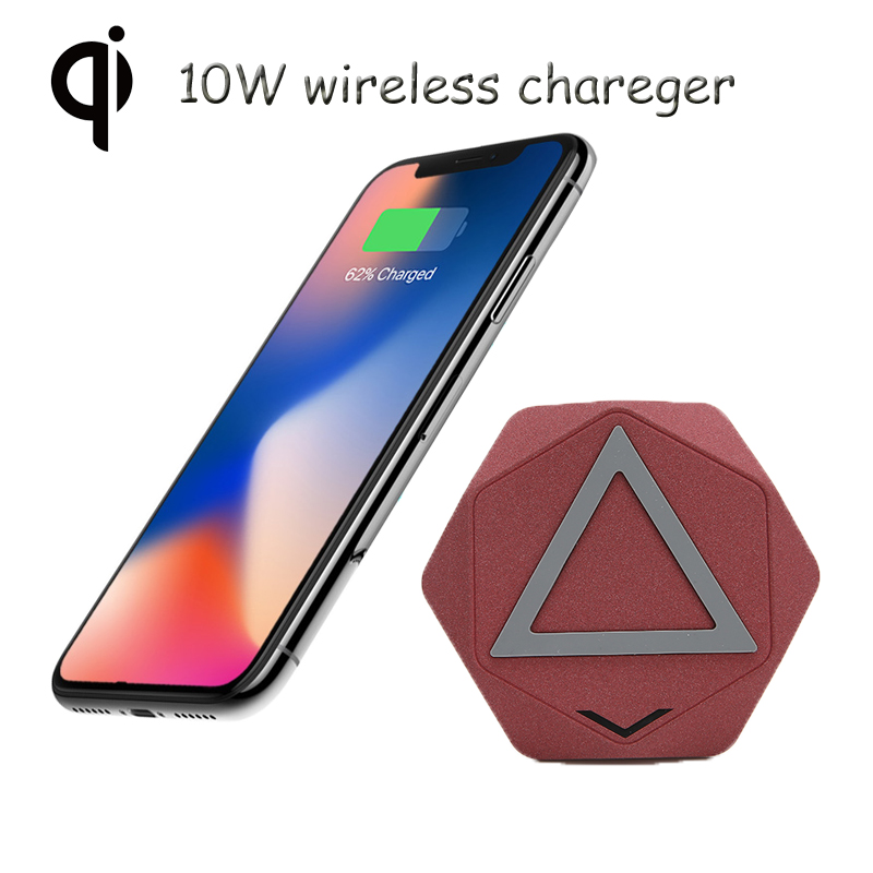 New design 10W QI Wireless Charger For Phone can Charging Pad Qi-Enabled Devices Mobile Phone Charger For iPhone X Samsung