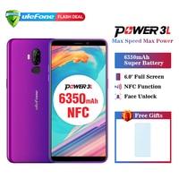 Ulefone Power 3L 6.0 HD+ Android 8.1 Mobile Phone MTK6739 Quad Core 2GB+16GB NFC 13MP+5MP Camera 6350mAh Face ID 4G Smartphone