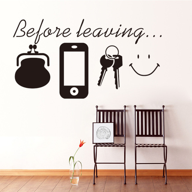 Before Leaving Wall Quote Decals Stickers Bag Key Mobile Reminder Wallpaper Art Door Living Room Wall  sc 1 st  AliExpress.com & Before Leaving Wall Quote Decals Stickers Bag Key Mobile Reminder ...