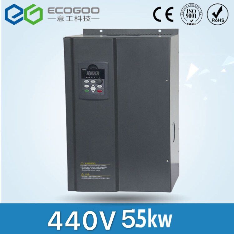 цена на hot sale 55KW/3 Phase 440V/100A Frequency Inverter--Free Shipping- vector control 55KW inverter/ Vfd 55KW