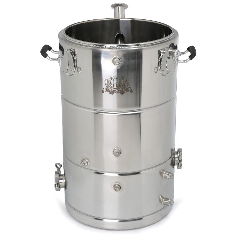 Nouvelle chaudière SS304 à vapeur 50l. Cuve multifonctions. Réservoir de purée SS304. Alcool Whisky distillateur d'eau refroidisseur Moonshine chaudière