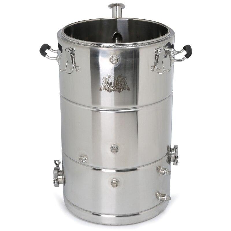 Nuevo 50l chaqueta de vapor SS304 caldera Multifunción tanque Depósito SS304. Alcohol Whisky destilador de agua enfriador Moonshine caldera