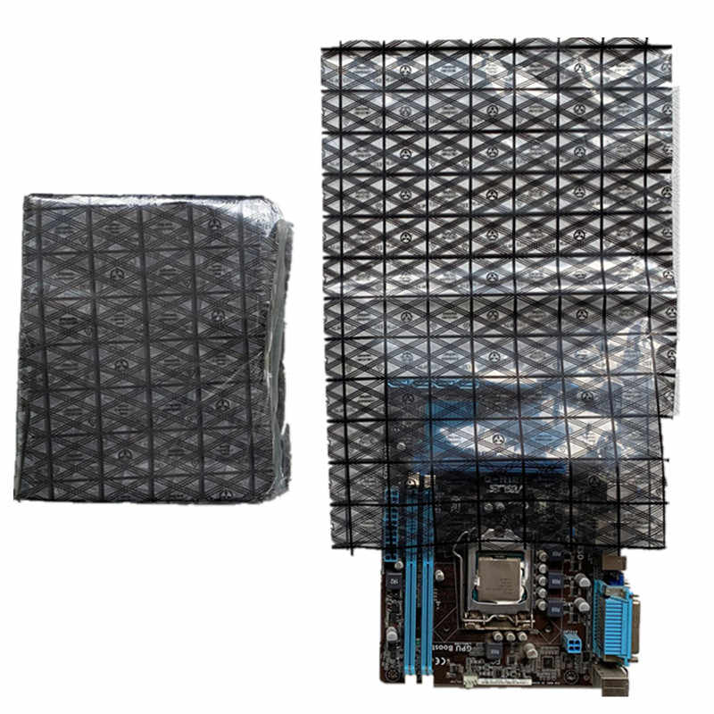 WISHDIAM 50pcs Open Top Antistatic Bag Large 12X16inches ESD Shielding Anti Static Bags for Motherboard Video Card LCD Screen