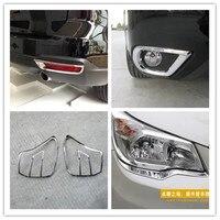 ABS Chrom Vorne + Hinten Nebel licht Lampe Abdeckung Trim Vorne + Hinten scheinwerfer Lampe Abdeckung für Subaru Forester 2013-2018 auto styling