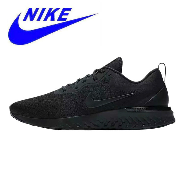 New Arrival Nike Odyssey React Men's Running Shoes, Black, Shock Absorbing, Breathable, Lightweight Wear-resistant AO9819 005