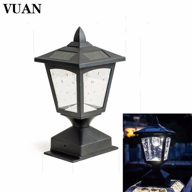 lampe solaire sur poteau