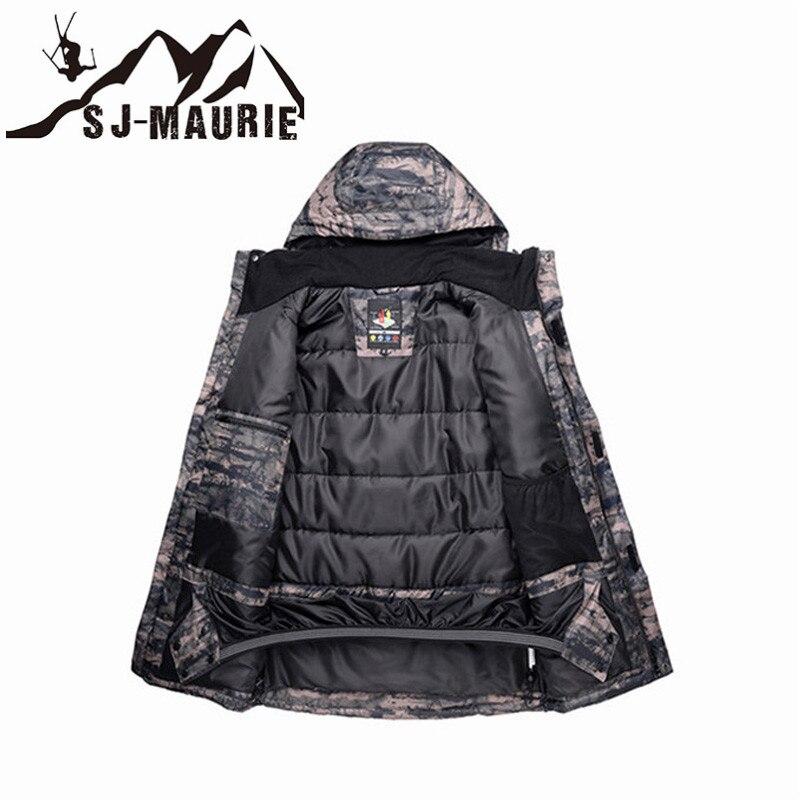 Veste de Ski homme veste de Snowboard Camouflage combinaison de Ski hiver imperméable coupe-vent veste de chasse d'hiver - 3