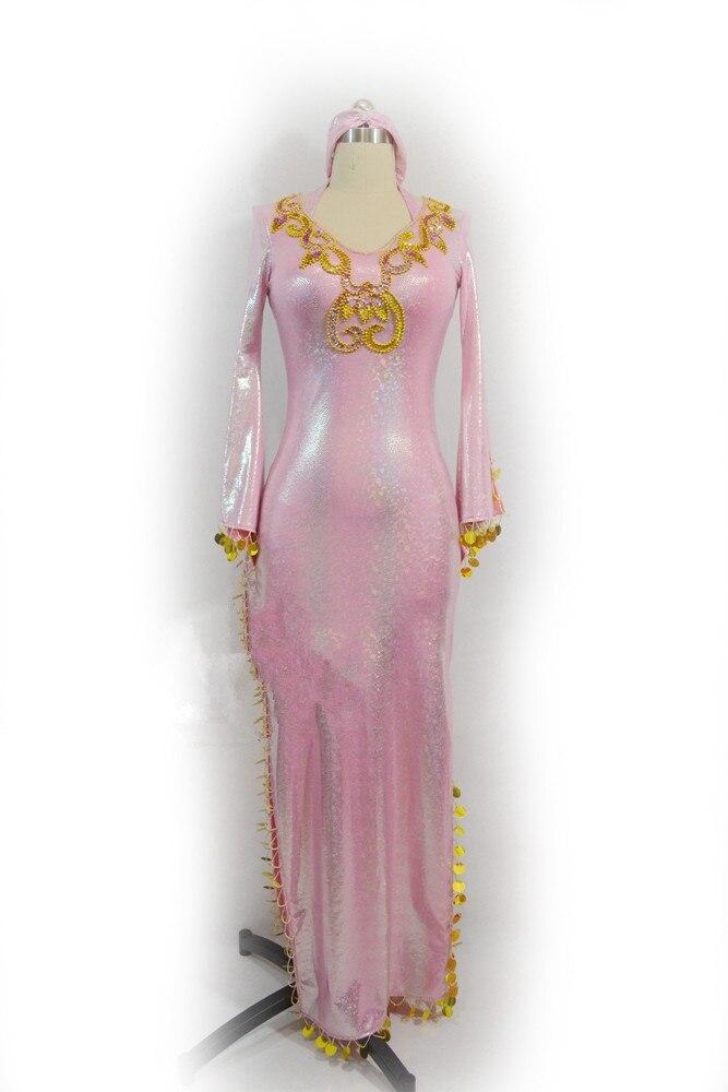 Oriental dancing costume Belly dance hair swinging Indian baladi saidi dance costumes Bellydance robe bra belt skirt dress 3268