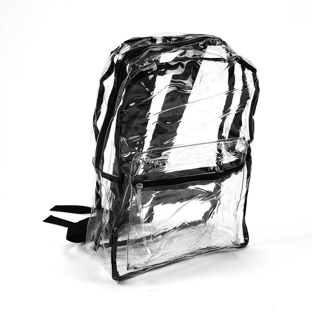 Fashion Women Transparent Backpack Bags For Women 2018 School Bags For Teenager Girls PVC School School Satchel
