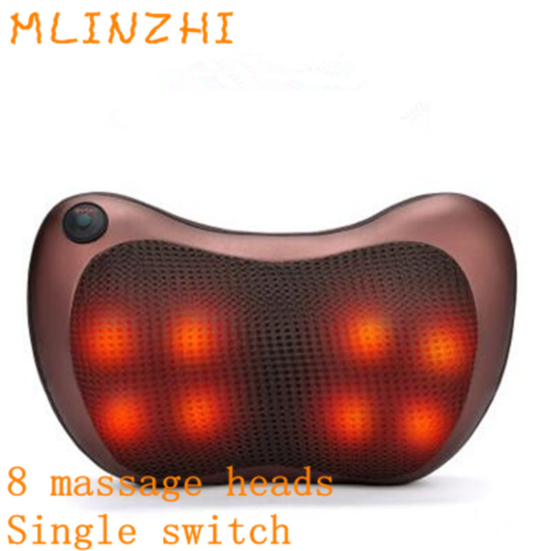 Electric Kneading Neck Shoulder Back Cervical Lumbar Leg Massager Infrared Heating Shiatsu Massage Pillow Car Chair Relax Device full body massage cushion pillow cervical massager 4d kneading electric vibrating magnet massager shiatsu shoulder back massage