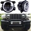 For Jeep Wrangler JK Led Fog Lights Lamp Lens 4 Inch Round Fog Lights Headlight DRL