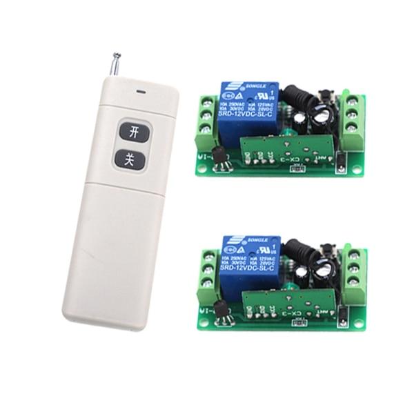 Nouveauté DC 12 V 1CH RF sans fil télécommande Radio commutateur 433 mhz émetteur récepteur 200 m haute sensibilité ugs: 5221