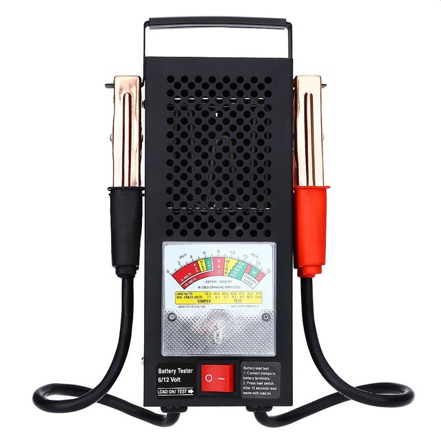 T16594 Battery Load Tester Equipment Voltage Tool Automotive Vehicular Electromobile 6V 12V Easy to Carry Accurate Indication