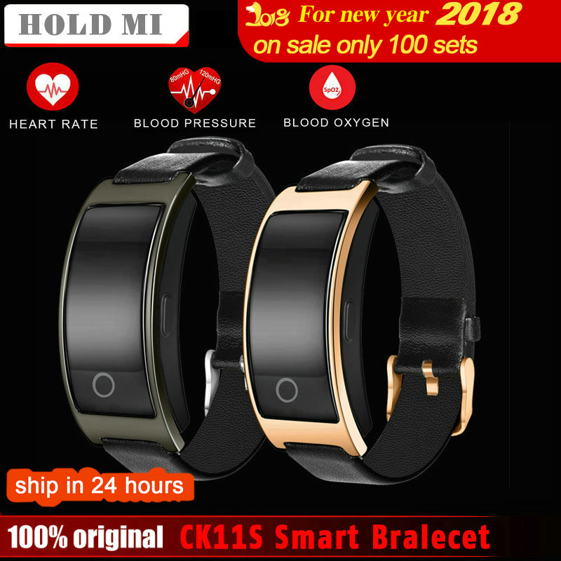 Hold Mi CK11S Smart Bluetooth Bracelet Blood Pressure Heart Rate Monitor WristWatch Fitness Bracelet Tracker Pedometer Wristband
