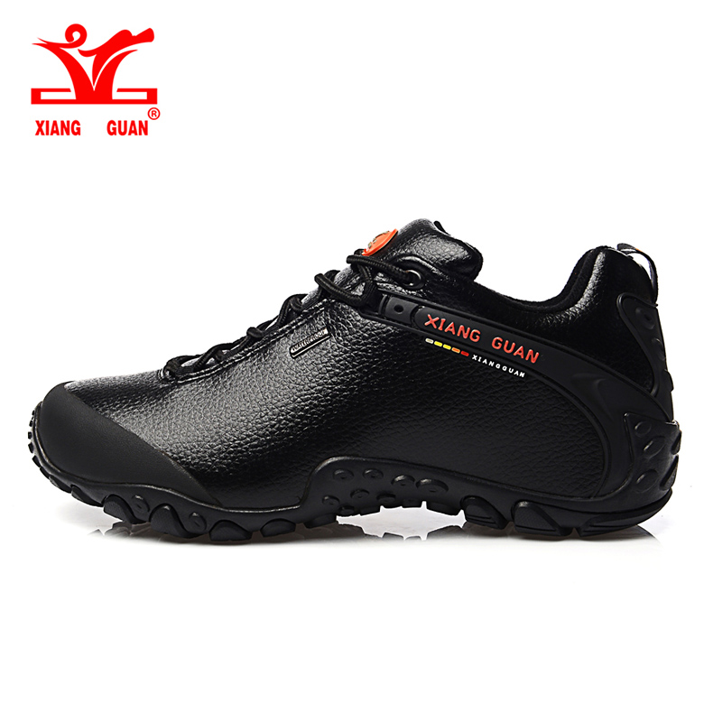 2016 XIANG GUAN hiking shoes poly urethane black slip resistant shoes Climbing Outdoor shoes breathable shoes