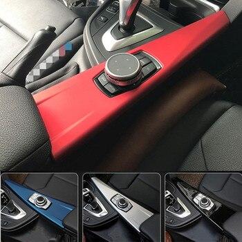 سيارة وحدة التحكم مسند ذراع الوسائط المتعددة زخارف اللوحات غطاء تقليم ملصقا ل BMW 3/4 سلسلة GT F30 F32 F34 LHD الداخلية اكسسوارات