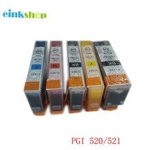 5Pcs PGI-520 CLI-521 Ink Cartridge PGI 520 PGI520 For Canon PIXMA MP540 MP550 MP560 MP620 MP630 MP640 IP3600 IP4600 IP4700 5pcs pgi 520 cli 521 compatible ink cartridges for canon pixma ip3600 ip4600 ip4700 mx860 mx870 printer pgi520 cli521 pgi 520