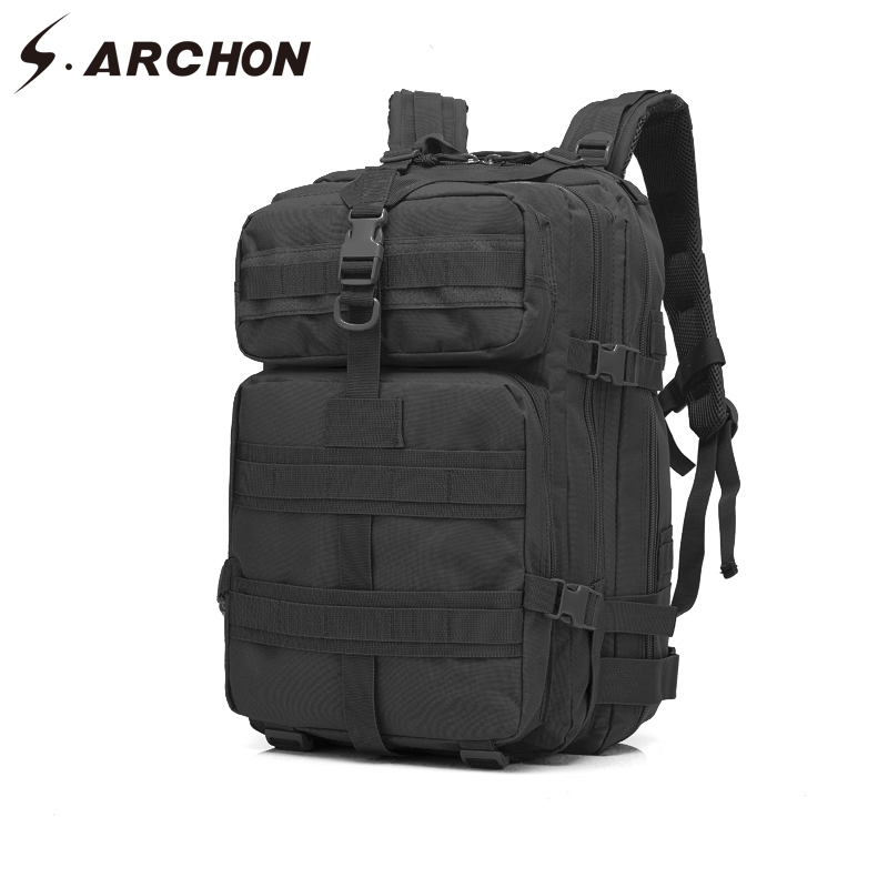 S.ARCHON Military Large-Capacity Camouflage Backpack Men Waterproof Army Bags Unisex Nylon Durable Military Work Gear Bag military army backpack 50l nylon water proof camp hike trek camouflage backpacks large capacity men bag a103