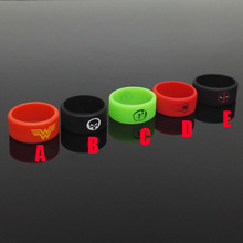 Spiderman Silicone Vape Band Ring Non Slip rubber ring for mechanical mods decorative and protection vape mod rubber band