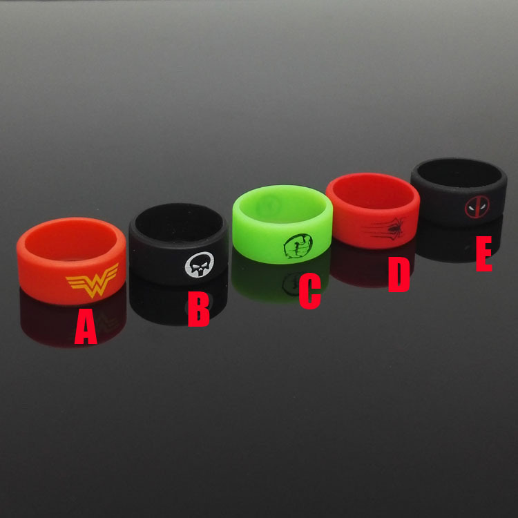 Spiderman Silicone font b Vape b font Band Ring Non Slip rubber ring for mechanical mods