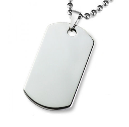 cheap large army id dog tag with chain polished stainless steel