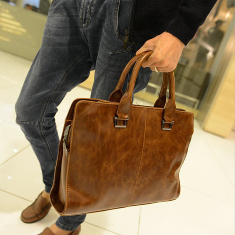 Popular Mens Leather Bags for Work-Buy Cheap Mens Leather Bags for ...