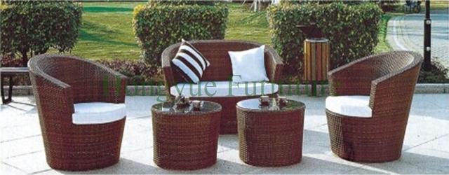 2015 promoción rattan rattan sofa set muebles