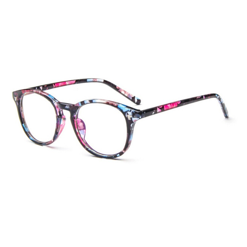8 Colors Fashion Men Women Eyewear Frame Classic Vintage Floral Goggle Brand Designer Plain Glasses Anti-Blu-ray For Computer image