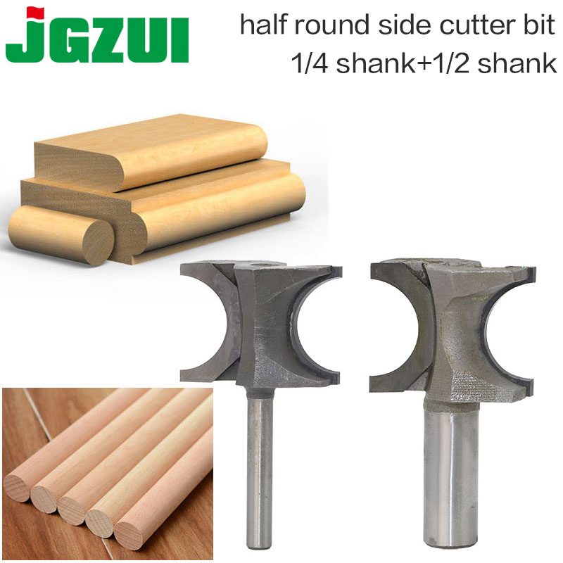 1PCS Half Round Side Cutter Bit Router Bit 12.7mm/6.35mm SHK Woodworking Bits