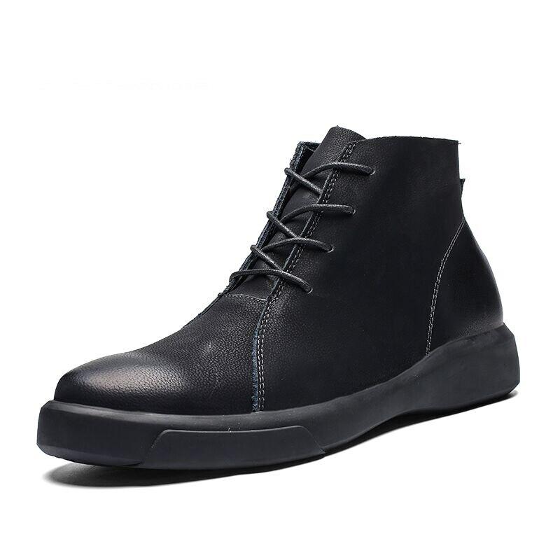 Neue Warme Männer Stiefel Herbst Winter Pelz Stiefeletten 2019 Mode Hohe Qualität Schnee Stiefel Vintage Männer Schuhe Größe 38 -47 QualitäT Und QuantitäT Gesichert