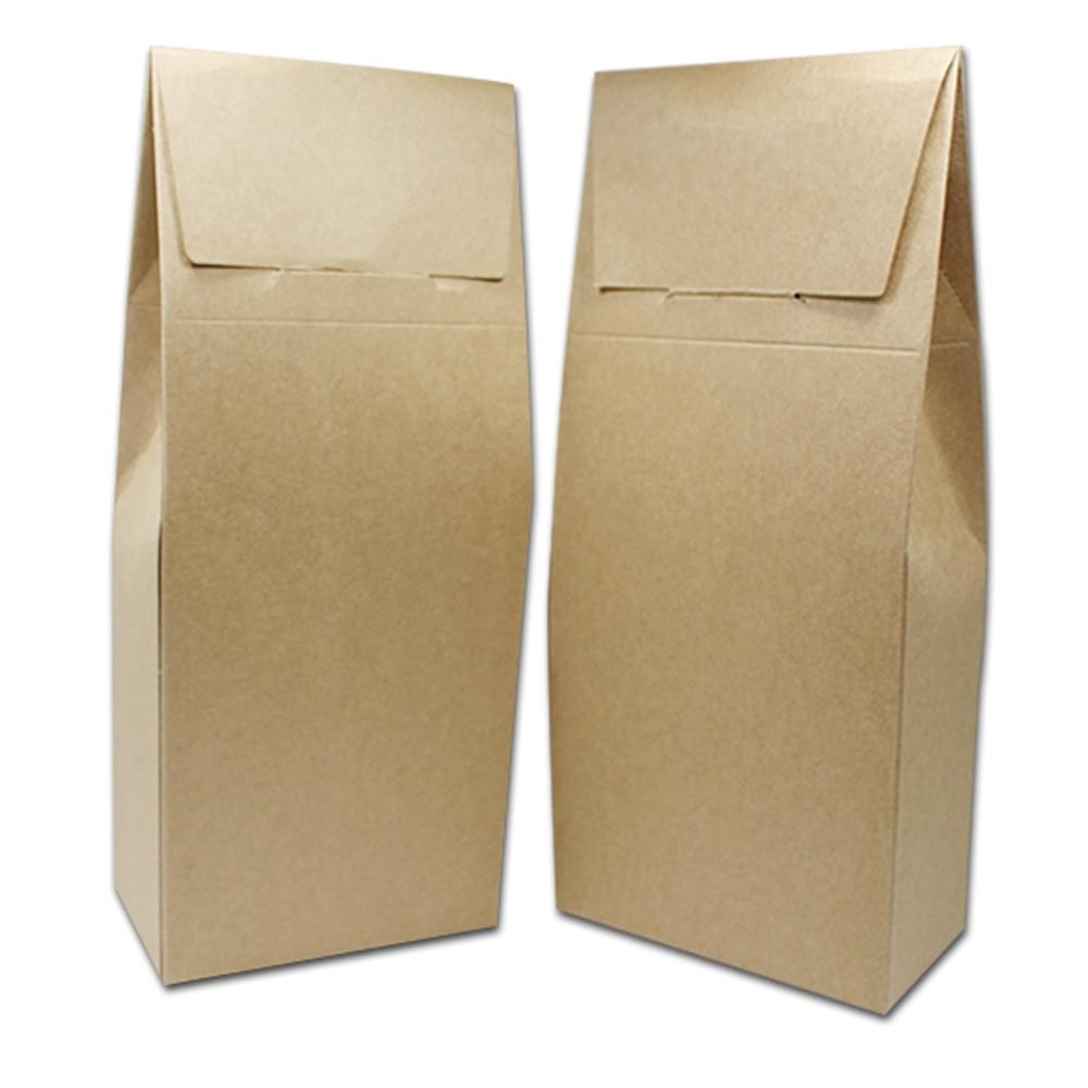 120pcs/lot Brown Blank Kraft Paper Tea Packaging Box Cardboard Folding Carton Gift Candy Dried Flower Packing 2 Size Wholesale