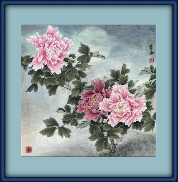 Needlework Craft Home decor French DMC Quality Counted Cross Stitch Kit/Set DIY Oil painting 14 ct Peonies