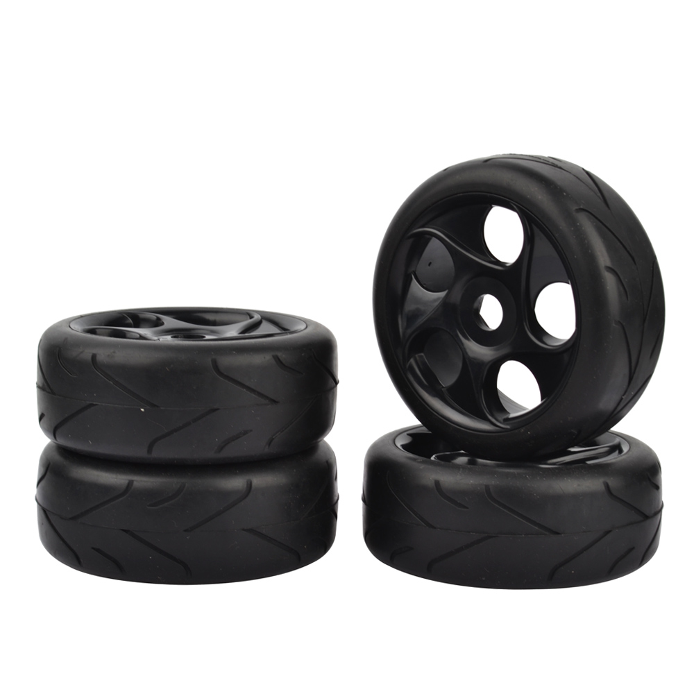 1:8 RC Off Road Car Buggy Tires Tyre Arrow Thread Pattern and Wheel for 1/8 HSP HPI Black 4pcs 1 8 buggy on road tires 17mm for kyosho hobao hsp hpi 4pcs tires