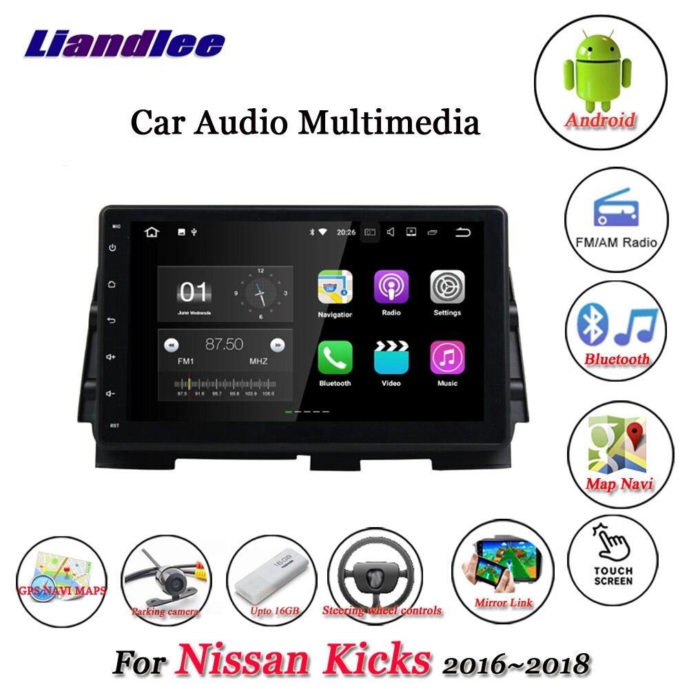 Liandlee автомобиля Android системы для Nissan пинает 2018 ~ 2016 стерео радио Видео Wi Fi gps географические карты Navi навигации Мультимедиа без DVD плеер