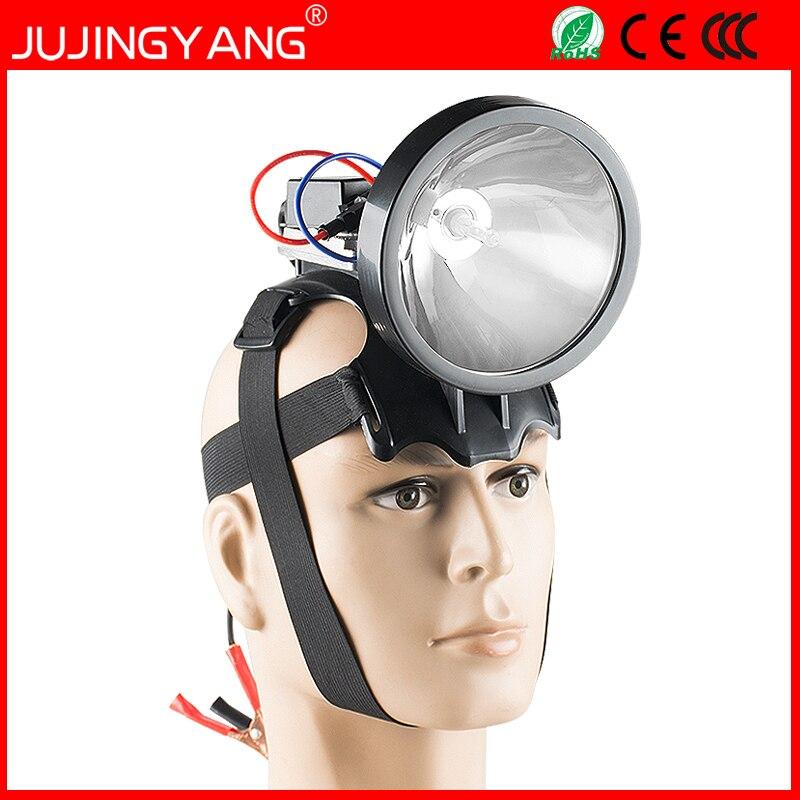 Lumineux camping 12 V 35 W HID projecteur 55 W lampe de pêche tête lampe 75 W phare 100 W chasse projecteur head light xenon spotlight