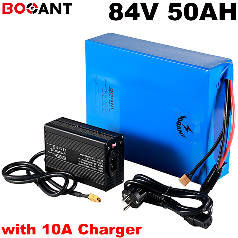 23S 17P 84v 50ah electric bike battery for Samsung INR18650-30Q 84v 5000w 7000w 8000w scooter lithium battery with 10A Charger