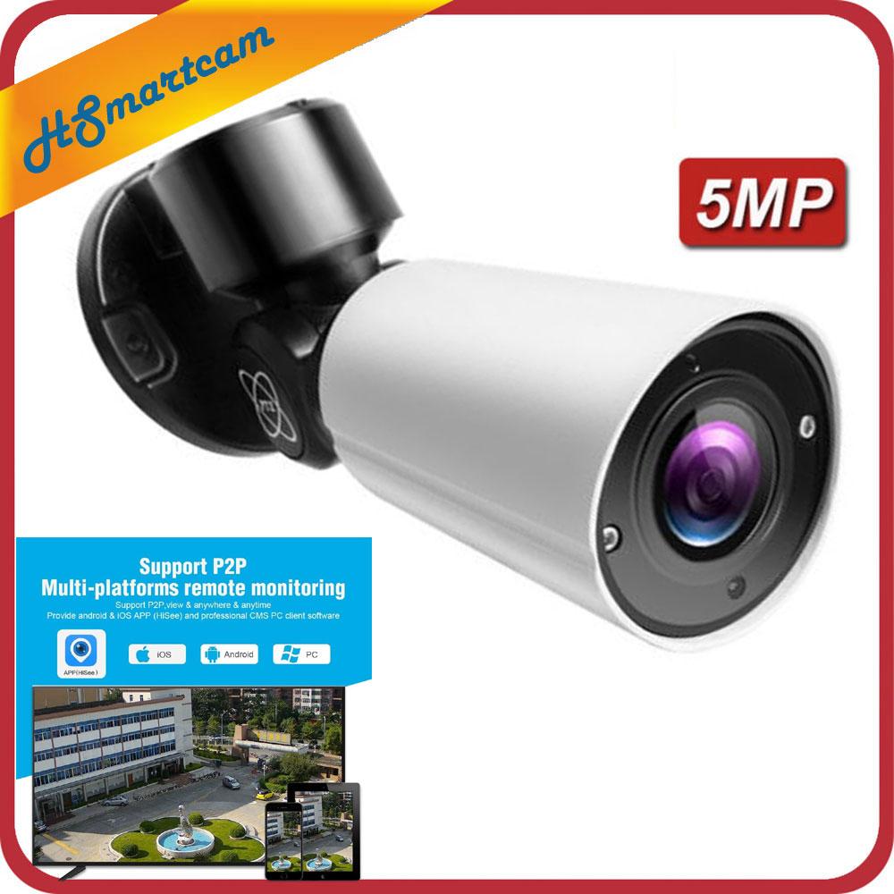 Здесь можно купить  5MP IP Security Bullet PTZ Camera H.265/H.264 4X optical zoom IR 50M onvif P2P Network cctv security Camera with 12V2A DC Power   Безопасность и защита