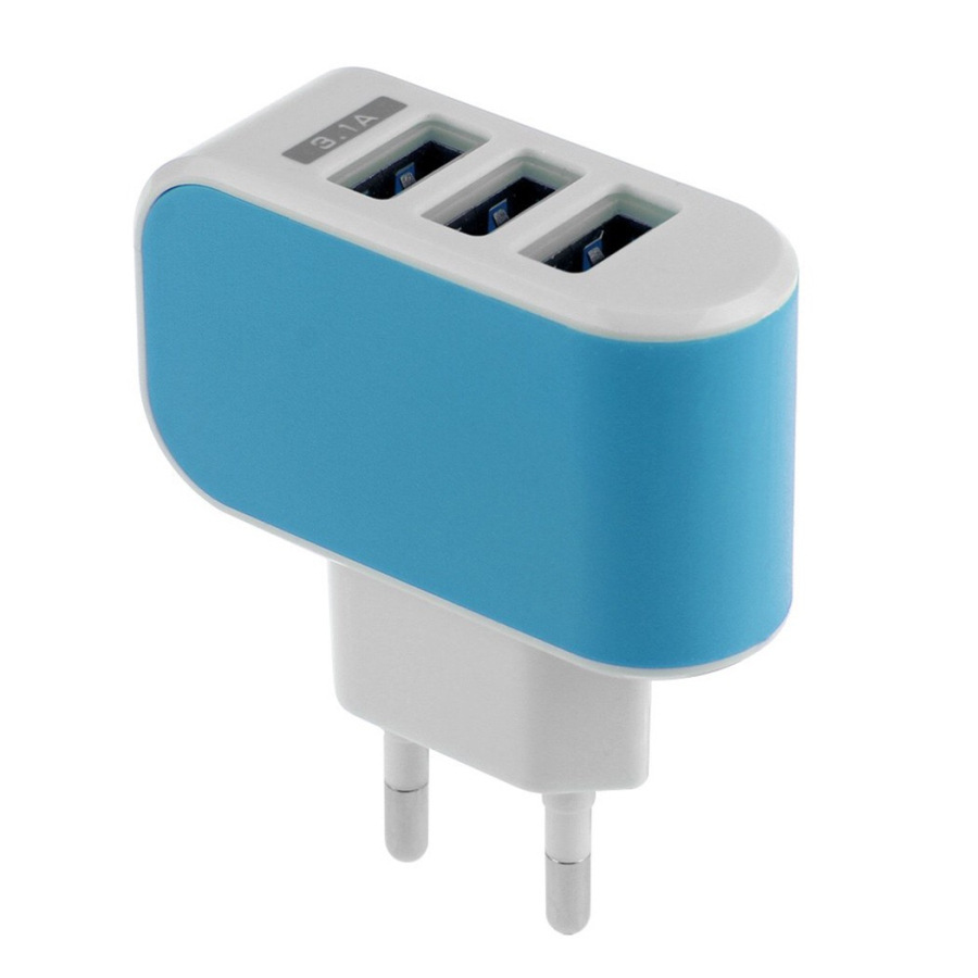 BARU 3 Port USB Charger 3A Pengisi Daya Ponsel Portabel Travel USB - Aksesori dan suku cadang ponsel - Foto 6
