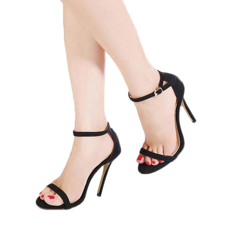 MCCKLE Gladiator Thin High Heel Sandals Women Sexy High Heels Plus ...